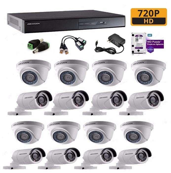 KIT CCTV HIKVISION DE 16 CANALES HD (DS-7216HGHI-F1/N)