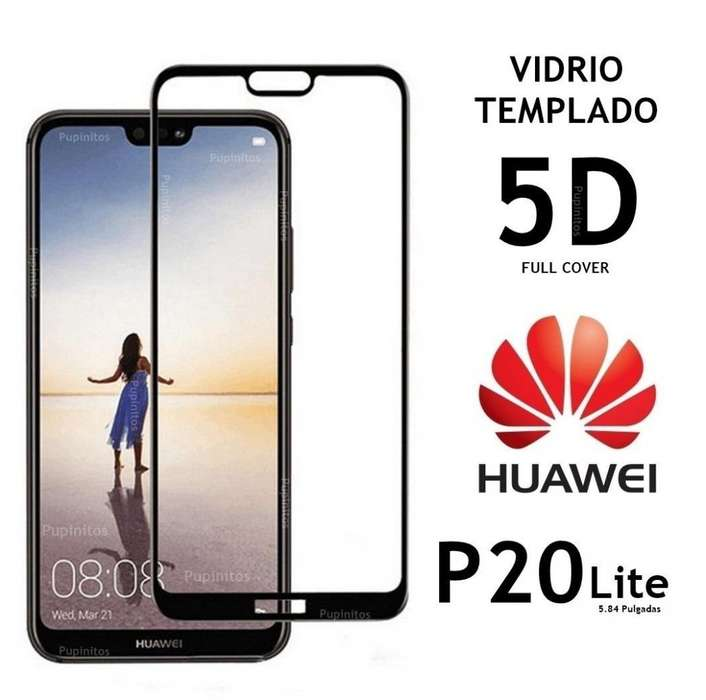 Vidrio Templado Full Cover 5d Huawei P20 Lite Rosario