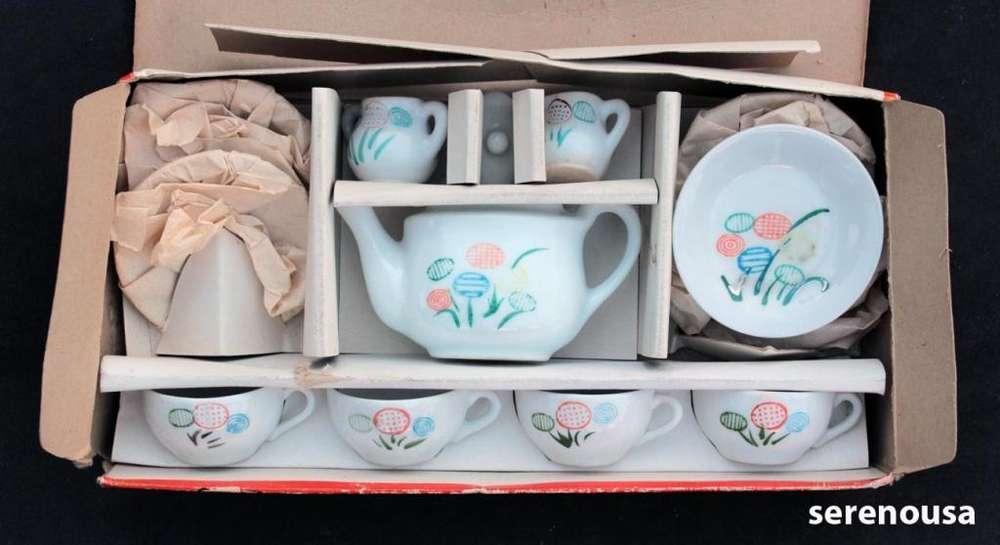 Toy China Tea Set Juego De Te Chino Antiguo Niñas Hermoso y unico en su serie!!!