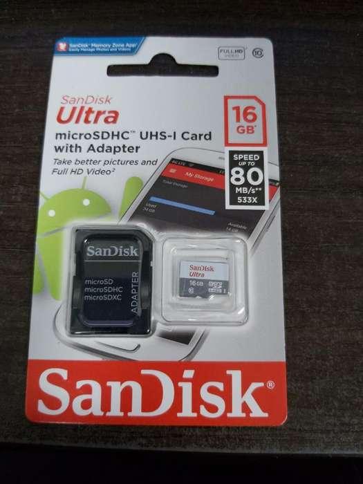 Micro Sd de 16gb Ultra Clase 10