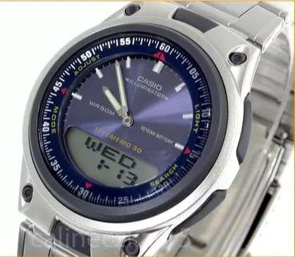 Reloj Casio Aw 80d Acero 100 Original Resistente Agua