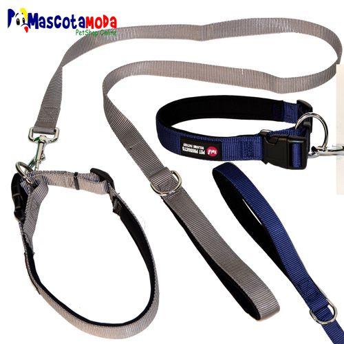 Correas y collares DELUX acolchadas para perros elegantes