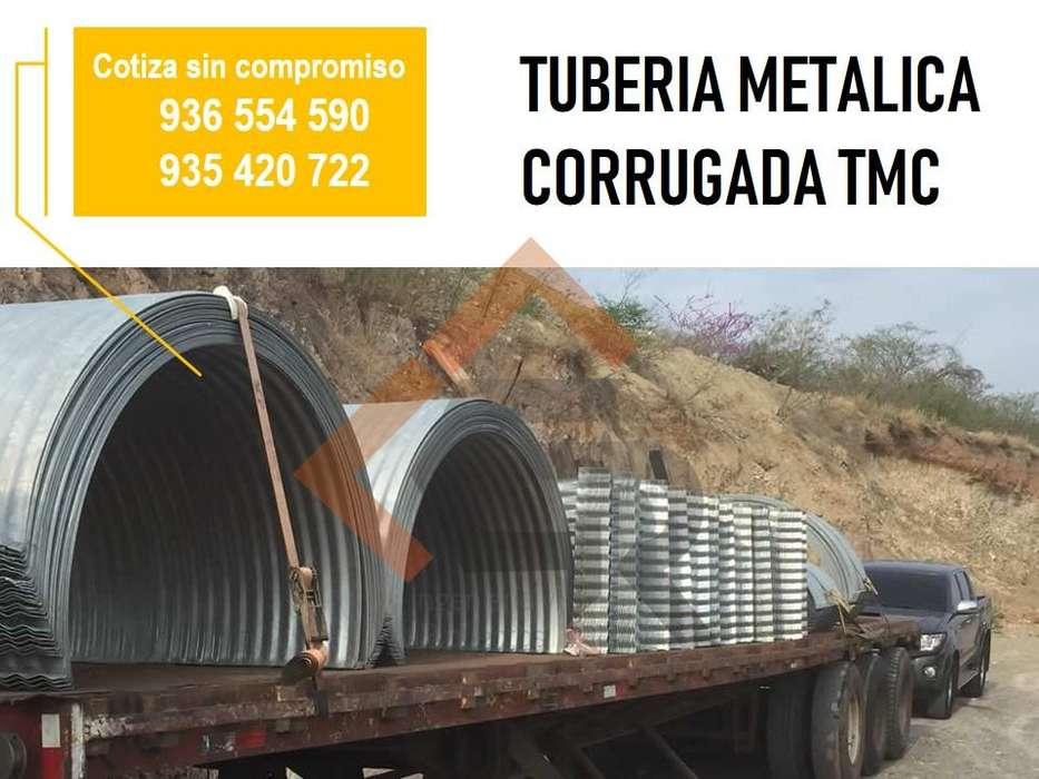 ALCANTARILLA TMC METALICA TMC ENVIO A NIVEL NACIONAL Y TUBERIA CORRUGADA HDPE CEL:936 554 590