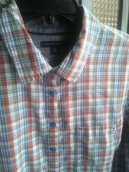 Camisa Tommy Hilfiget Talla L Original