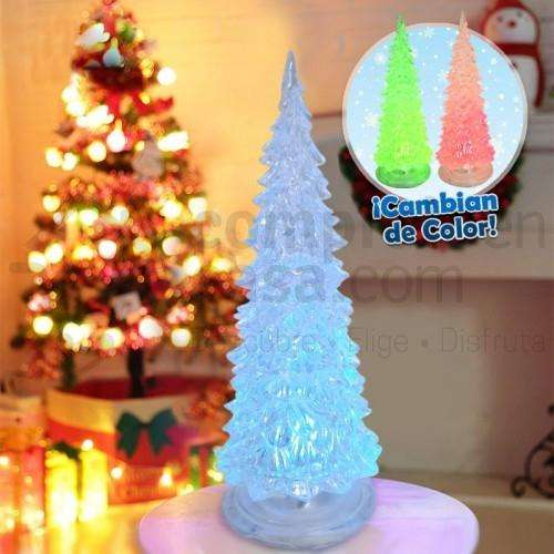 Mini Árbol Navideño LED Cambia Color Navidad Hogar <strong>oficina</strong> RF 2006