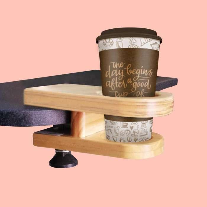 Soporte para Vasos, en madera tipo clip