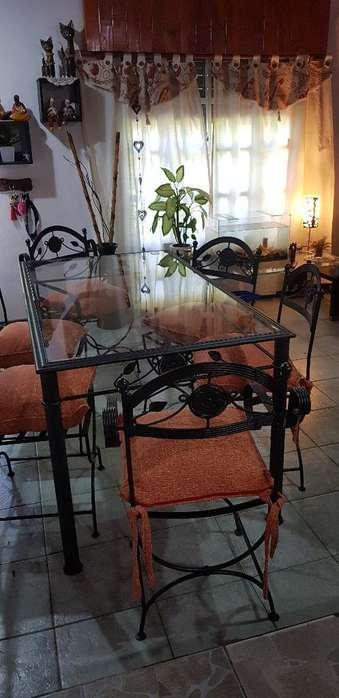 Mesa Y <strong>silla</strong>s de Hierro Hierro Forjado