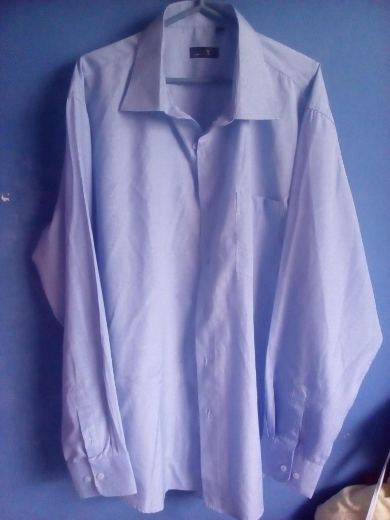 Camisas hombre italianas de algodón manga larga talla 18