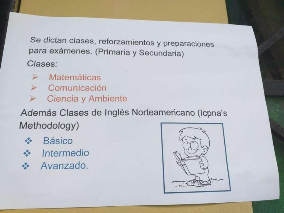 clases particulares, reforzamiento y preparaciones a examenes