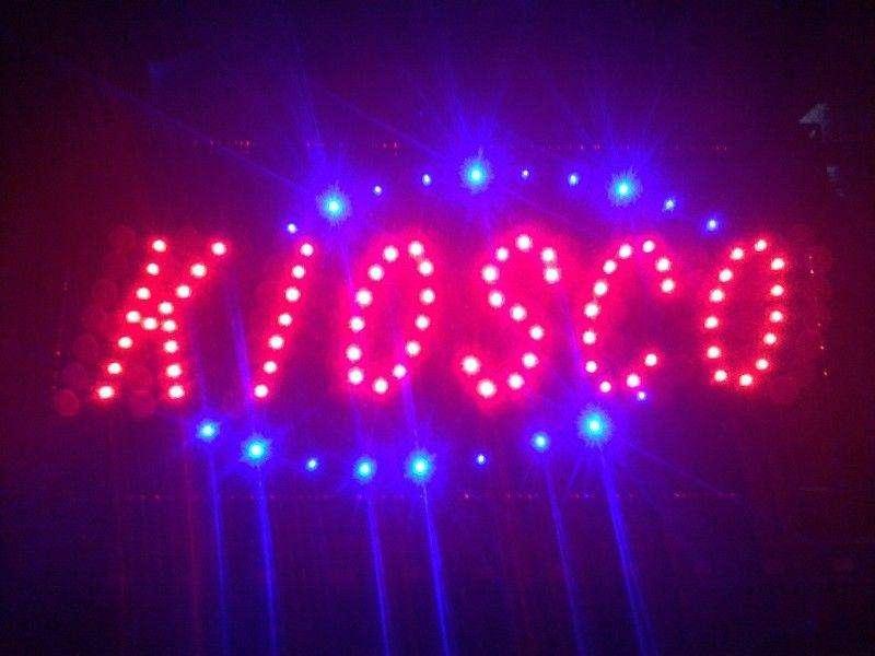 Cartel LED KIOSKO con interruptor