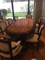 Comedor  Caoba  Mesa  10 sillas