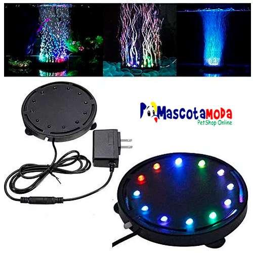 Luces led redondas sumergibles con colores y micro burbujas