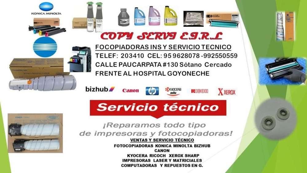 SERVICIO TECNICO Y VENTA DE <strong>insumos</strong> Y REPUESTOS PARA IMPRESORAS Y FOTOCOPIADORA