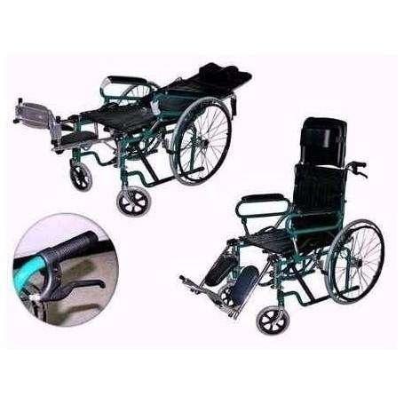 Silla de ruedas tipo camilla y colchn antiescaras inflable