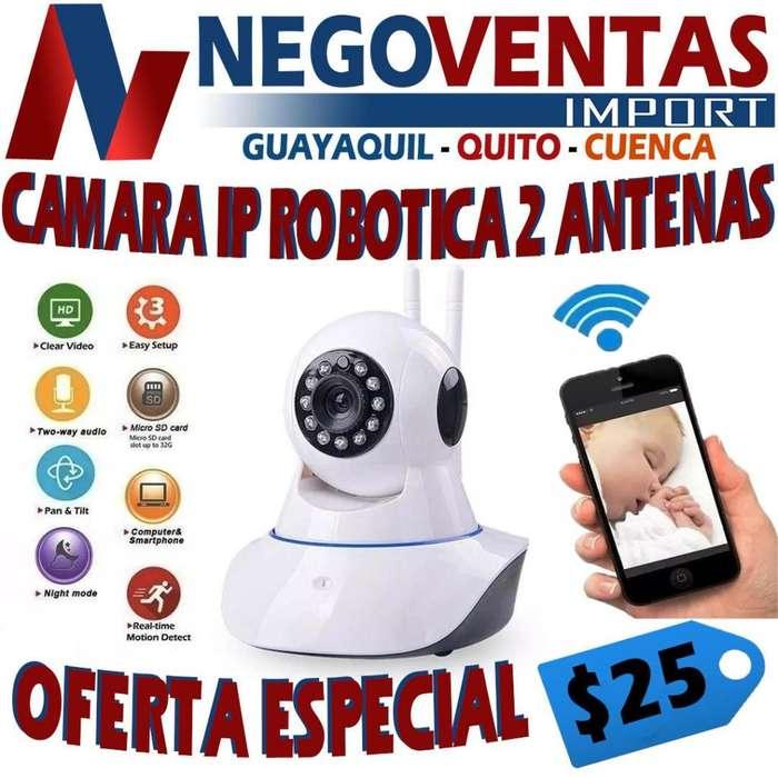 CAMARA IP ROBOTICA DE 2 ANTENAS CON LED INFRARROJOS
