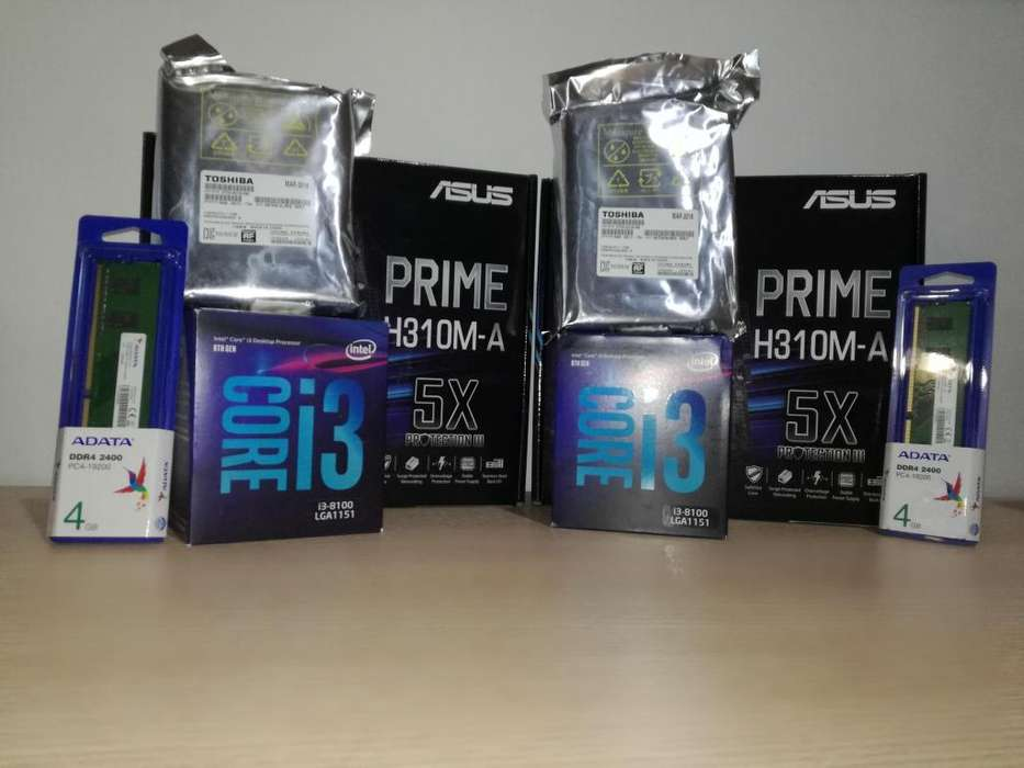 Asus H310mk I3 8100 Ddr4 4gb 2400p300 1 Tera New