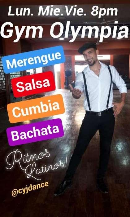 Clases de baile Ritmos Latinos! Salsa Bachata Merengue y Cumbia