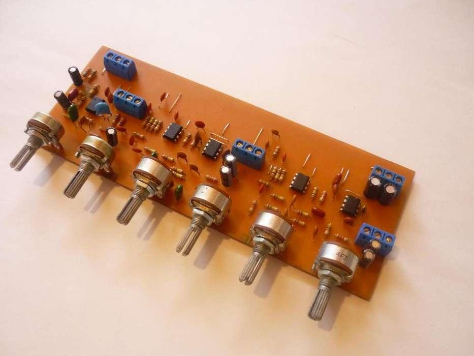 crossover activo de 3 vias. divisor de frecuencias.