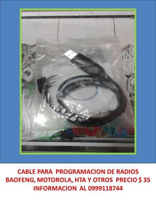 RADIOS Y CABLES PARA PROGRAMACIÓN BAOFENG 0999118744