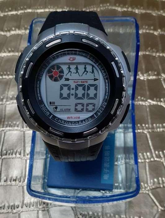 Reloj Digital,prueba de Agua,cronometro