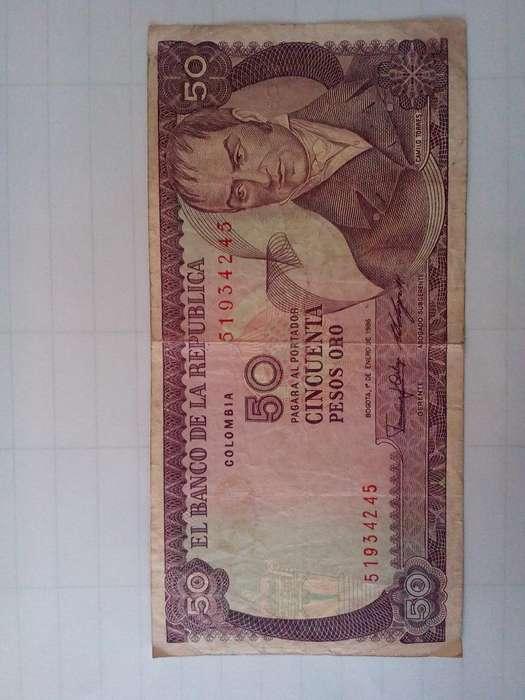 Colombia 50 Pesos 1 Enero de 1986