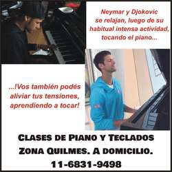 Clases piano y teclados, Quilmes