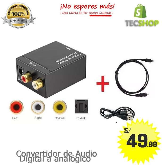 Conversor de Audio Digital a Rca Cable Óptico oferta