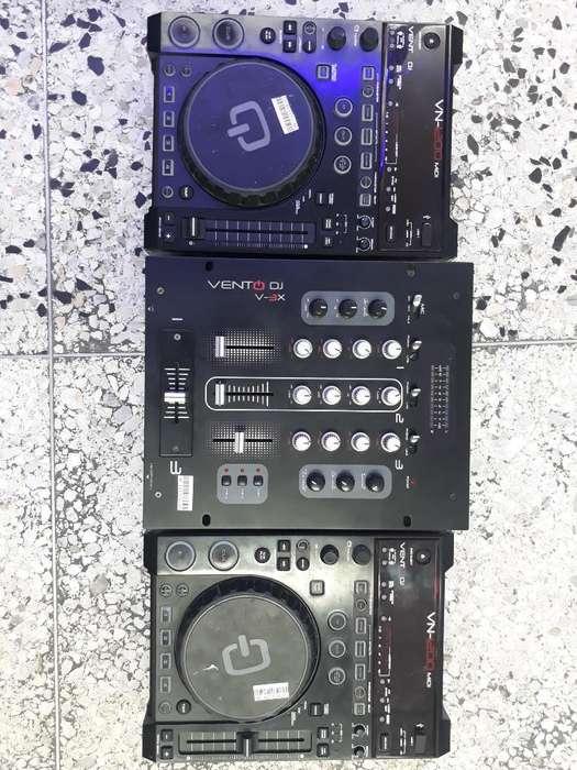 Reproductor Ventodj Usb Y Cd con Mixer
