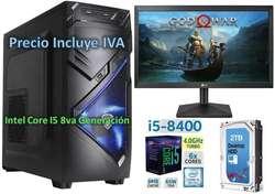 Computadora Cpu Intel Core I5 8va Gen 2tb 4gb Led 20 I7 PRECIO INCLUYE IVA ENTREGA A DOMICILIO