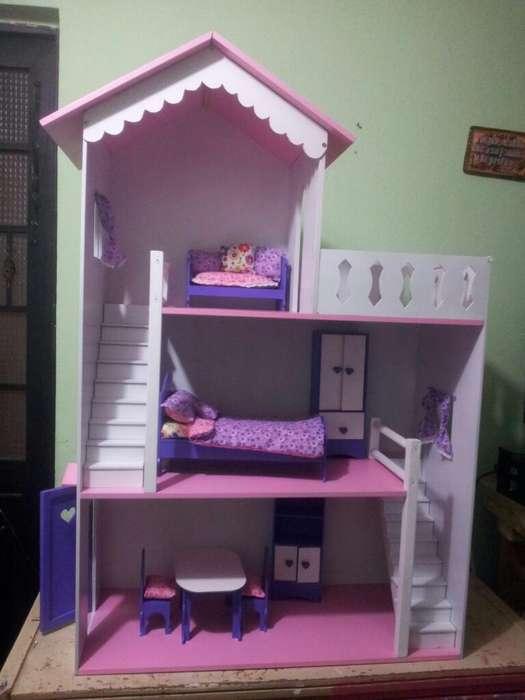 Casa Barbie en Madera