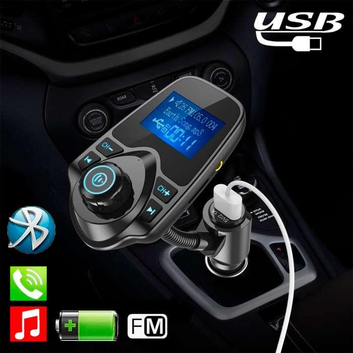 Transmisor Bluetooth Fm para Carro Musica, Llamadas, SD, USB