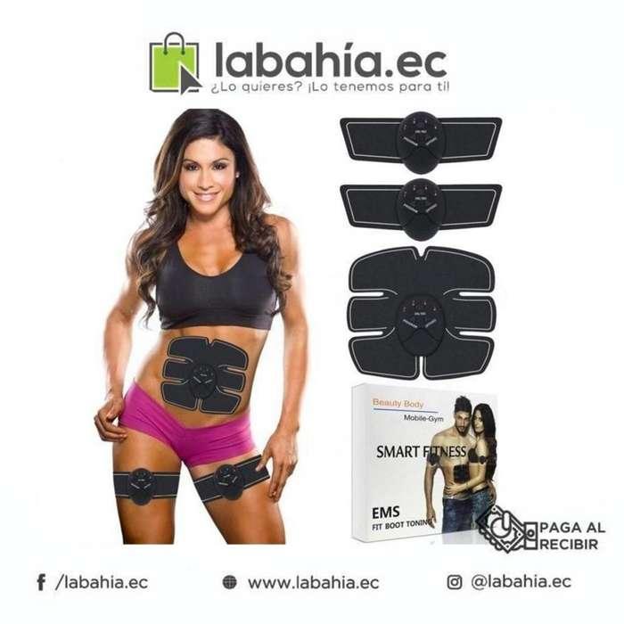 Electrodos ejercitador completo para brazos abdomen y piernas