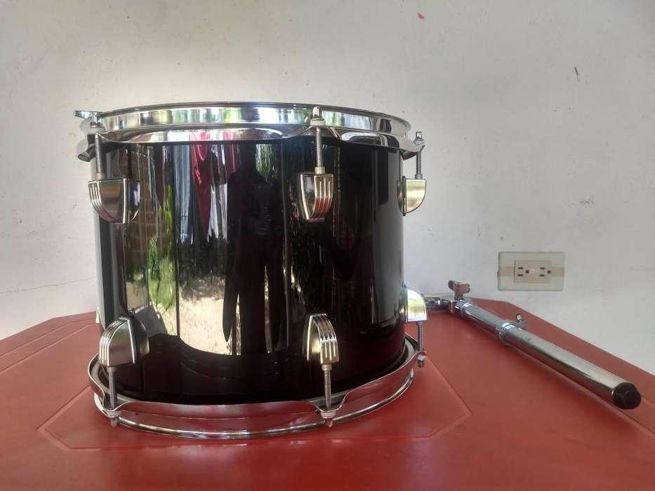 Tom para batería Ludwing Accent (Color negro) de 12