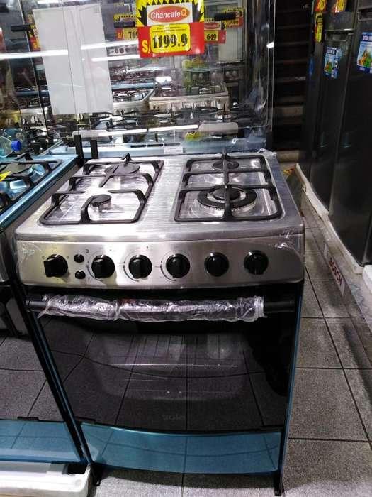 Cocina Sole 4h Acer. Inox. Enc. Electric