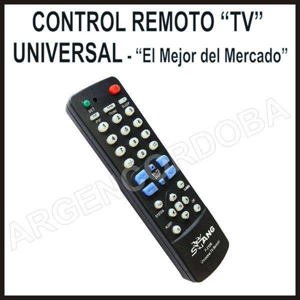 CONTROL REMOTO UNIVERSAL TV EL MAS COMPATIBLE LIQUIDACION