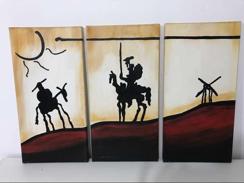 Cuadro Quijote Y Sancho