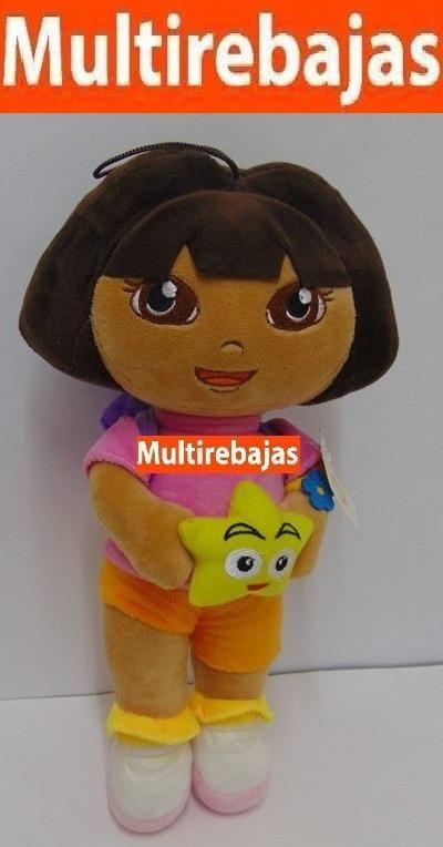 Peluche Dora Con Mochila Y Estrella