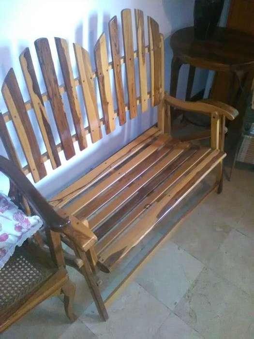 Asiento reclinable madera natural