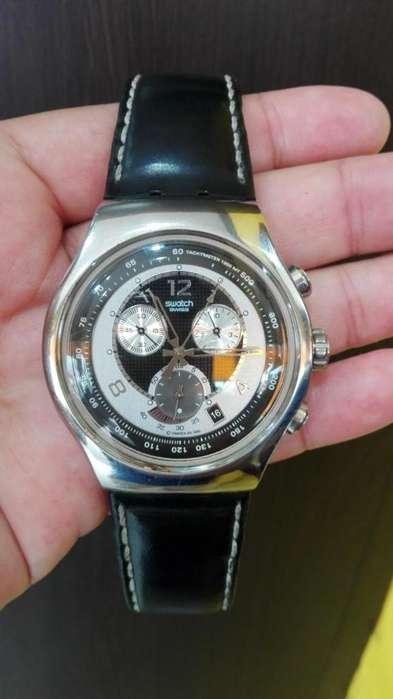 Reloj Swatch Irony Big In Black, Original Suizo, Muy Poco Uso, Excelente Estado 10 de 10...