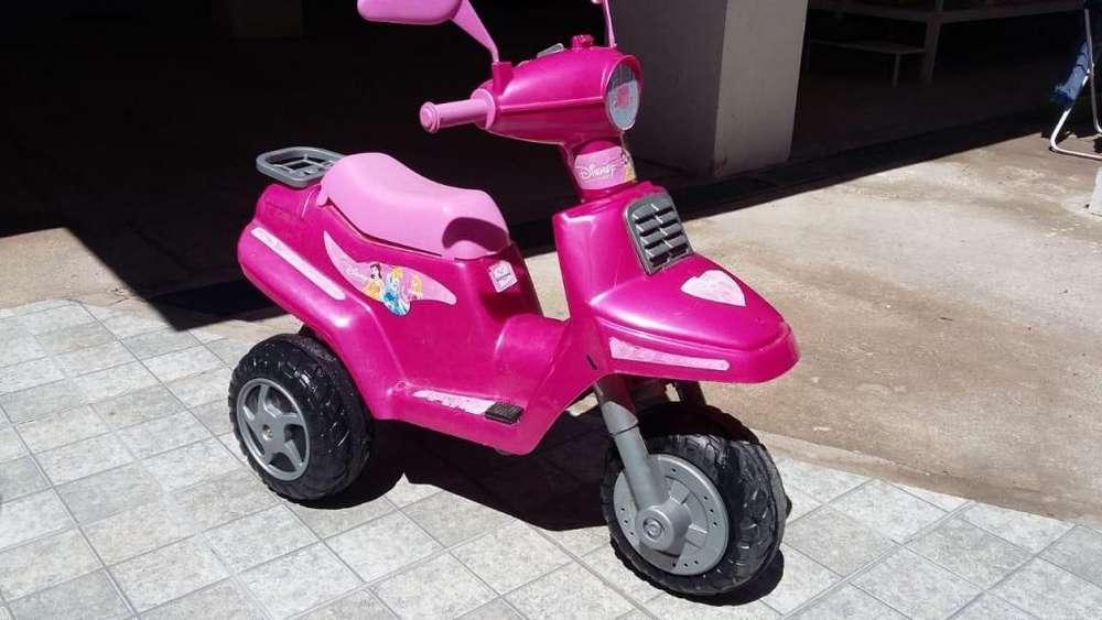 Moto electrica princesa a bateria