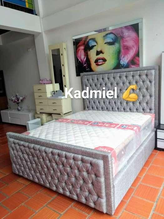hermosa cama de 1.60 se le hace en el color que elijas