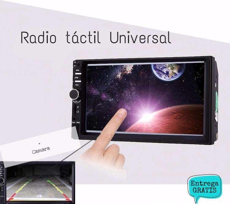 Autoradio Radio universal de 7 pulgadas con pantalla táctil y cámara de retroceso NUEVA SIN Lectora de CD