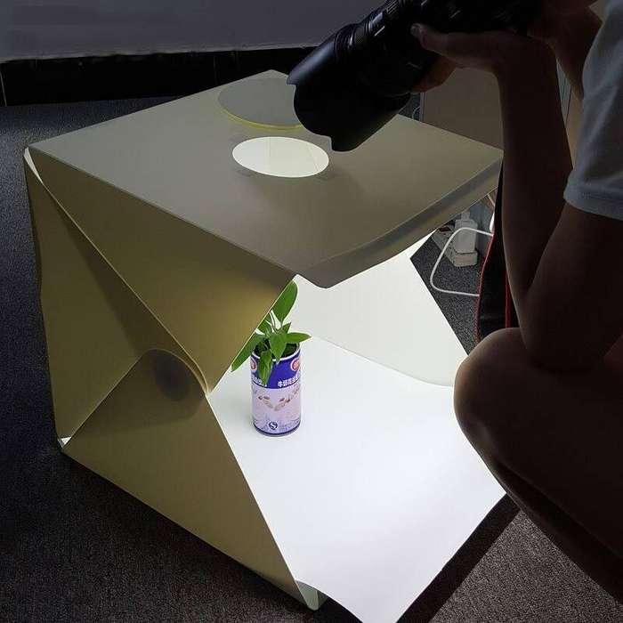 <strong>estudio</strong> Fotográfico Portatil y Plegable dos fondos 40x40cm