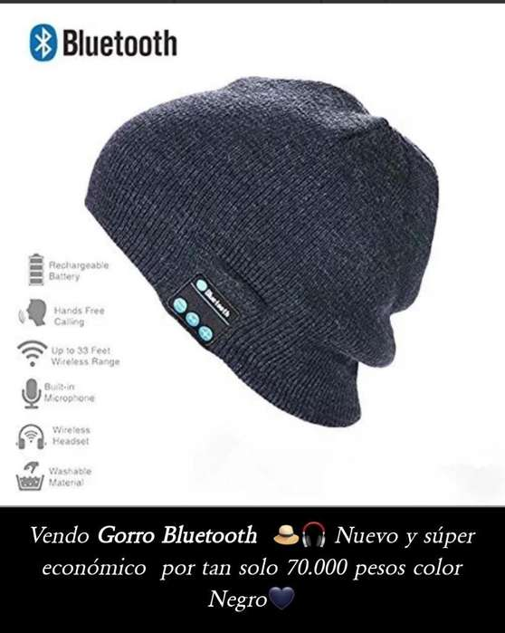 Gorro <strong>bluetooth</strong> Negro