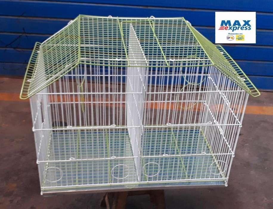 Jaula Doble N3 para Aves Canario Periquitos Agapornis Delivery