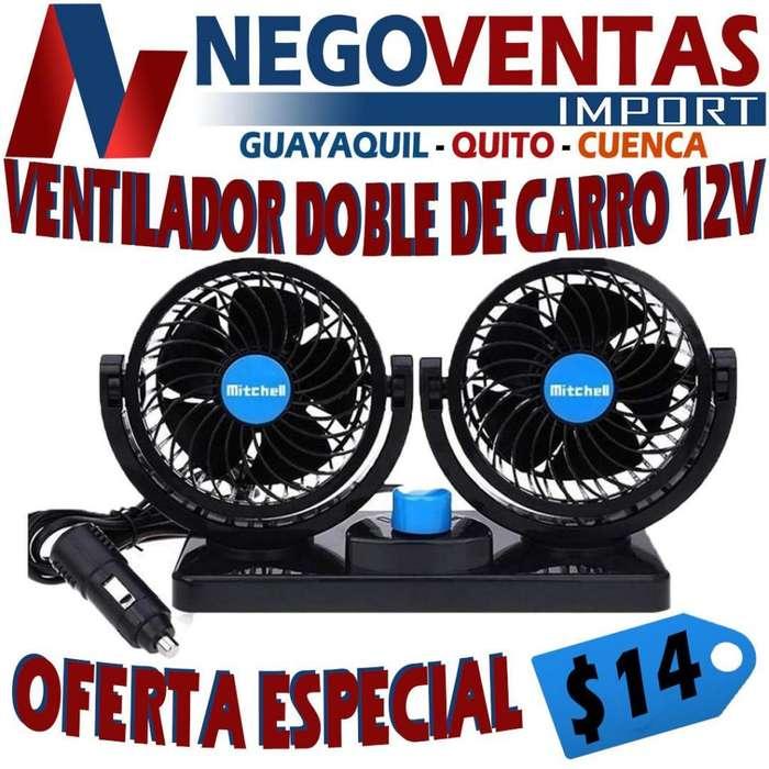 VENTILADOR DOBLE DE CARRO 12V