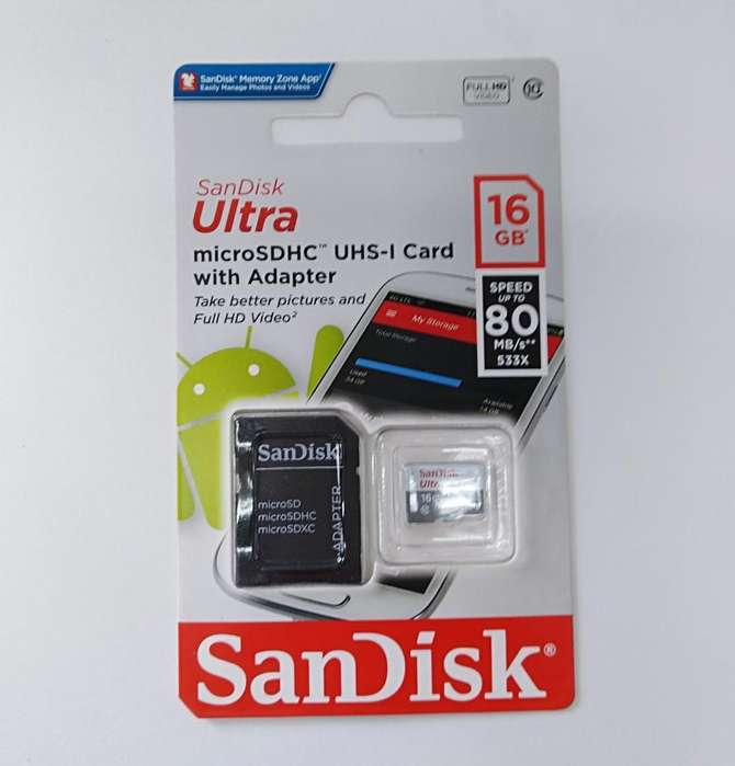 Micro Sd 16gbs Sandisk Original