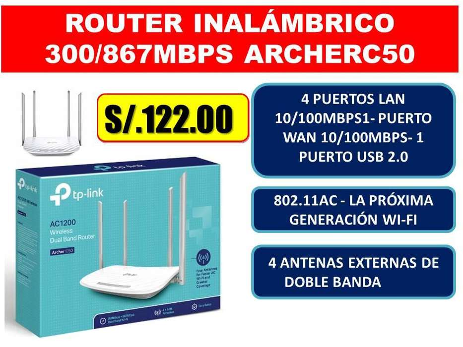 ROUTER INALÁMBRICO 300/867MBPS ARCHERC50