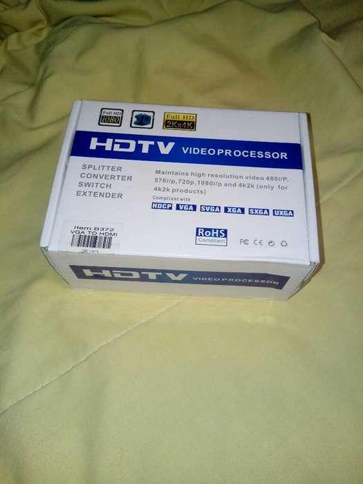 Caja Convertidora de Vga a Hdmi