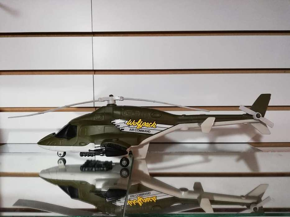 Antiguo Helicoptero Wolfpack Air Command ERTL 1986 Plastico y Metal Escala 1/16 Usado 1970